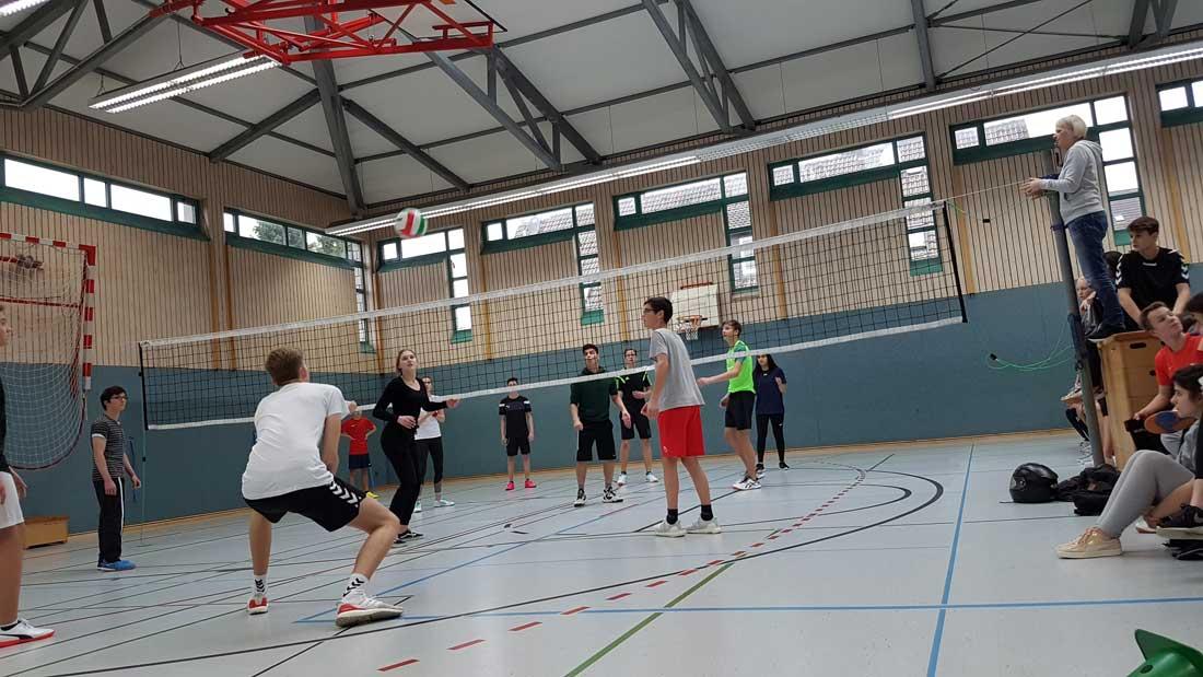Action in der Sporthalle